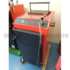 Шахтний твердопаливний котел Kraft D 15 кВт на механічному управлінні сталь 5мм (Холмова Крафт)