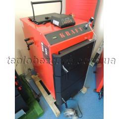 Шахтный твердотопливный котел Kraft D 15 кВт на электронном управлении сталь 5мм (Холмова Крафт)