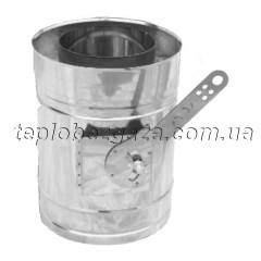 Регулятор тяги для димоходу нерж/оцинк Версія Люкс D-400/460 товщина 0,8 мм