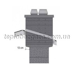 Верхний двухходовой комплект APIP под изоляцию с вентиляционным каналом Schiedel UNI D160/160+V