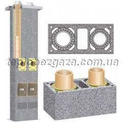 Двухходовой керамический дымоход с вентиляционным каналом Schiedel UNI D160/200+V L8
