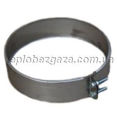 Хомут обжимний для димоходу з нерж. сталі Версія Люкс D-1000 мм товщина 0,6 мм