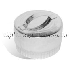 Заглушка для димоходу з нерж. сталі Версія Люкс D-100 мм товщина 0,6 мм