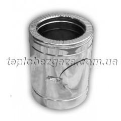 Ревизия для дымохода двустенная нерж/оцинк Версия-Люкс D100/160 толщина 0,6мм
