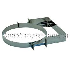Хомут для димоходу настінний з нерж. сталі Версія Люкс D-160 мм товщина 0,6 мм