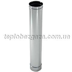 Труба дымоходная нержавейка Версия Люкс L-0,3 м D-125 мм толщина 0,8 мм