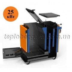 Твердопаливний котел Холмова Ретра 25 кВт економний піролізний тривалого горіння Retra 6М