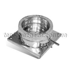 Підставка підлогова для димоходу з нерж. сталі Версія Люкс D-900/1000 мм товщина 0,6 мм