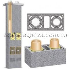 Двухходовой керамический дымоход с вентиляционным каналом Schiedel UNI D180/180+V L4