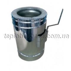 Стабилизатор тяги дымохода двустенный нерж/оцинк Версия-Люкс D100/160 толщина 0,6мм