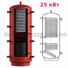 Теплоаккумулятор Energy 600л с двумя теплообменниками 25 кВт (12,5+12,5кВт) с теплоизоляцией (буфер Энергия)