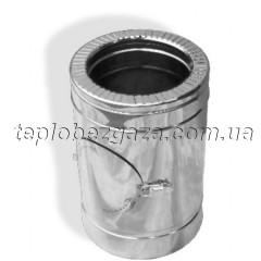 Ревизия для дымохода двустенная нерж/нерж Версия Люкс D-600/660 толщина 0,6 мм