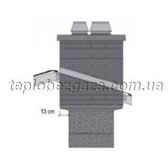 Верхний двухходовой комплект APIP под изоляцию с вентиляционным каналом Schiedel UNI D140/180+V