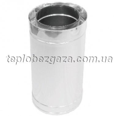 Труба дымоходная двустенная нерж/нерж Версия-Люкс L-1м D220/280 толщина 0,8мм