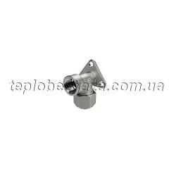 Колено с внутренней резьбой с креплением 20x1/2 Giacomini (зажимные фитинги)