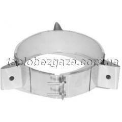 Хомут для димоходу на розтяжках з нерж. сталі Версія Люкс D-160 мм товщина 0,6 мм