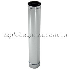 Труба дымоходная нержавейка Версия Люкс L-0,3 м D-100 мм толщина 0,8 мм