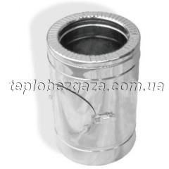 Ревізія для димоходу двостінна нерж/нерж Версія Люкс D-120/180 товщина 0,8 мм
