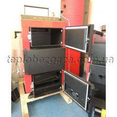 Шахтний твердопаливний котел Kraft D 25 кВт на електронному управлінні сталь 5мм (Холмова Крафт)