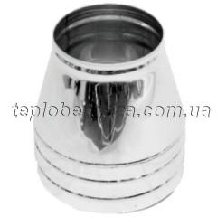 Конус для димоходу нерж/оцинк Версія Люкс D-100/160 товщина 0,6 мм
