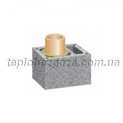 Одноходовой керамический дымоход с вентиляционным каналом Schiedel UNI D180+V L12